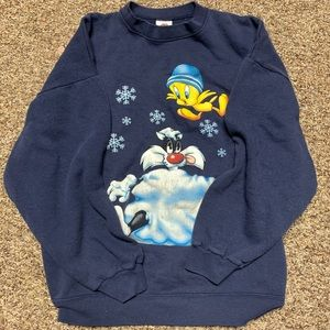 Vintage 90s Looney tunes sweatshirt winter